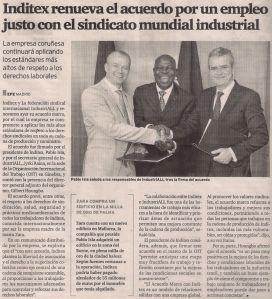 2014-07-09- El Ideal G- Inditex - Empleo justo sindicato mundial