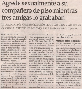 2014-07-16- La Voz de G- Agresión sexual en Ourense