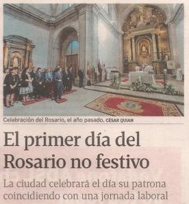 2014-10-07- La Voz de Galicia- Fiesta del rosario en Coruña