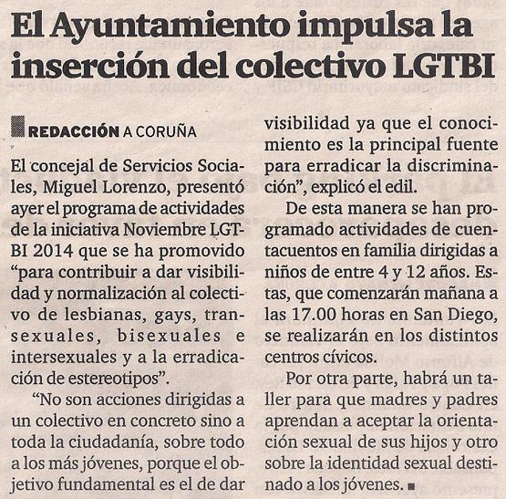 2014-11-13- El Ideal G- Noviembre LGTBI Coruña