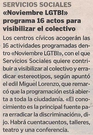 2014-11-13- La Voz de G- Noviembre LGTB 2014 Coruña