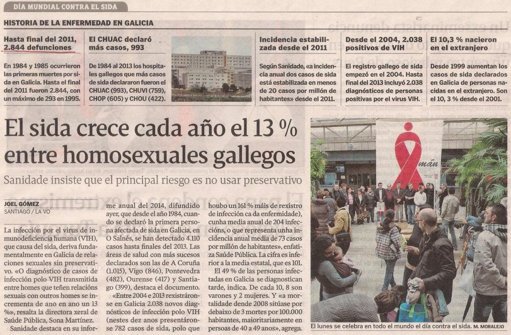 2014-11-29- La Voz de G- SIDA y homosexuales