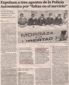 2015-01-21- El Ideal G- Sindicalistas - Policía Autonómica 1
