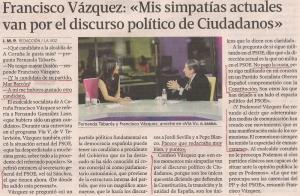 2015-02-03- La Voz G- francisco vázquez PSOE Ciudadanos