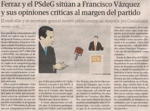 2015-02-04- La Voz G- francisco vázquez PSOE Ciudadanos