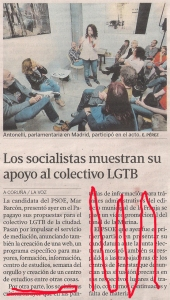 2015-04-17- La Voz de G- Programa electoral LGTBI del PSOE 1