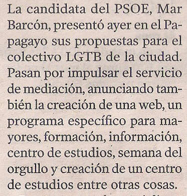 2015-04-17- La Voz de G- Programa electoral LGTBI del PSOE 2