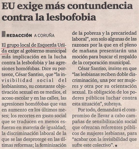 2015-04-26- El Ideal G- Esquerda Unida Coruña con las lesbianas