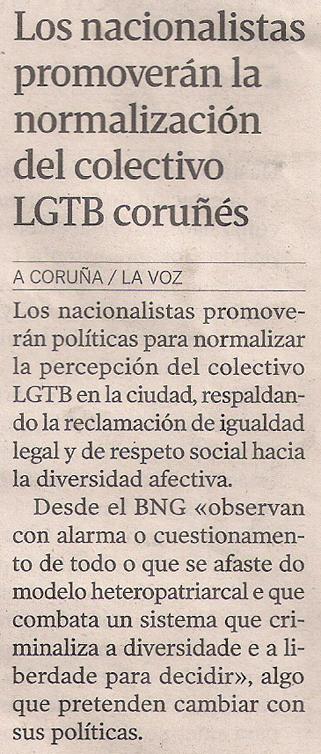 2015-05-04- La Voz de G- Coruña BNG programa lgtbi