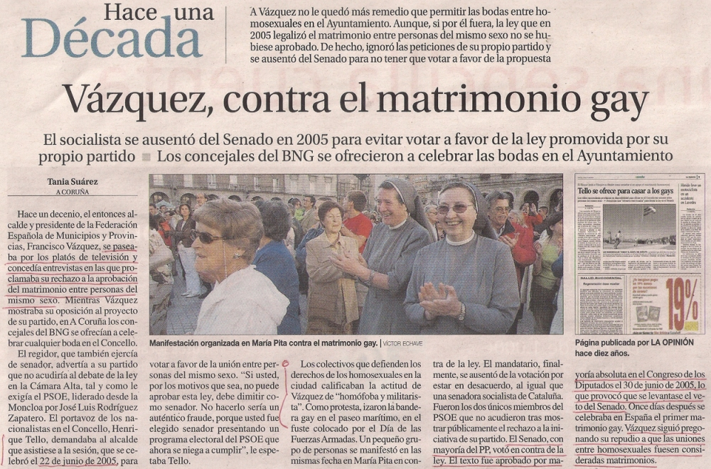 2015-05-31- La Opinión- Matrimonio gay- francisco vázquez 1