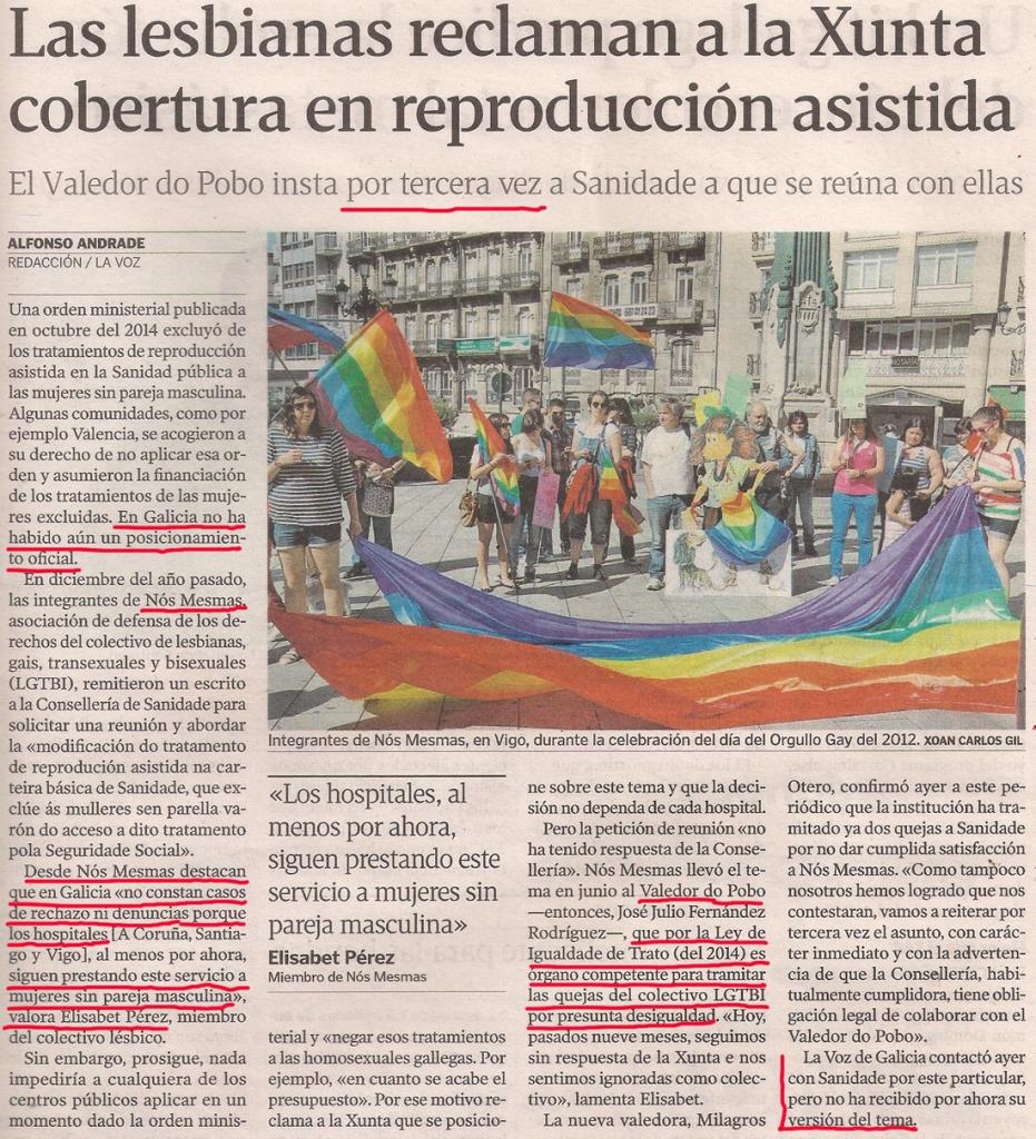 2015-09-16- La Voz de G- Reproducción asistida Nos Mesmas