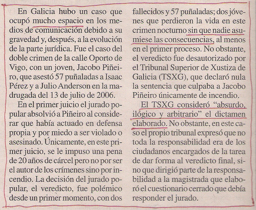 2015-11-05- La Opinión- Doble crimen de Vigo - 57 puñaladas 2