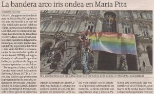 2015-06-27- La Voz de G- Bandera Orgullo Gay ayuntamiento Coruña 1