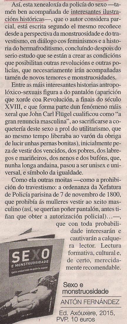 Sexo e monstruosidade Antón Fernández 2
