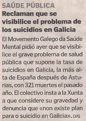 2016-05-04- La Voz de G- Visibilización suicidios en Galicia