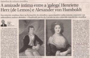 2016-05-08- La Opinión- Alexander von Humboldt - Henriette Herz 1