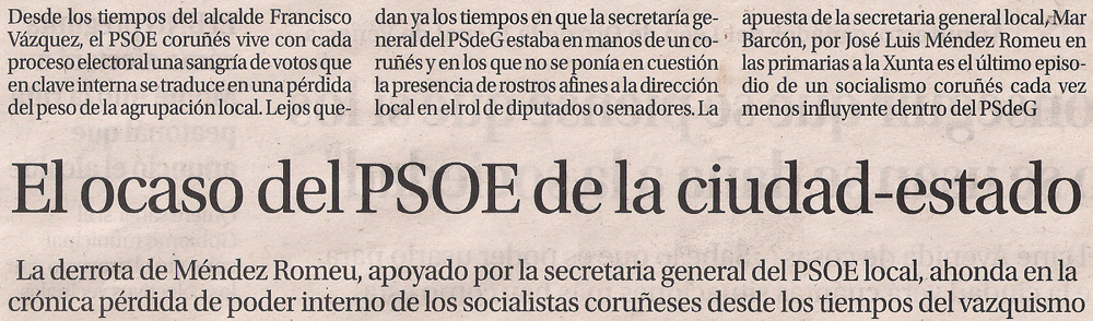 2016-05-31- La Opinión- La ciudad estado del socialismo coruñés 1