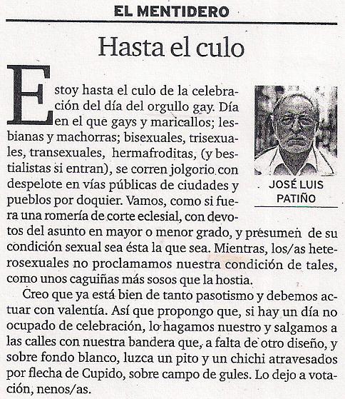2016-06-26- Diario de Ferrol- josé luis patiño -Hasta el culo-
