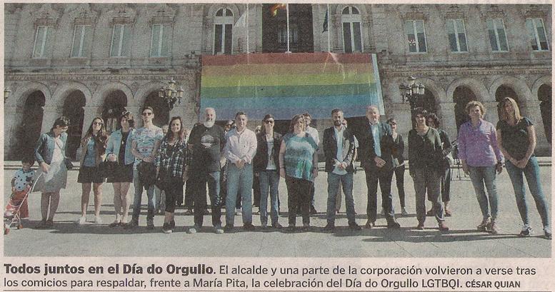 2016-06-29- La Voz de G- Bandera Orgullo Gay - Xulio Ferreiro