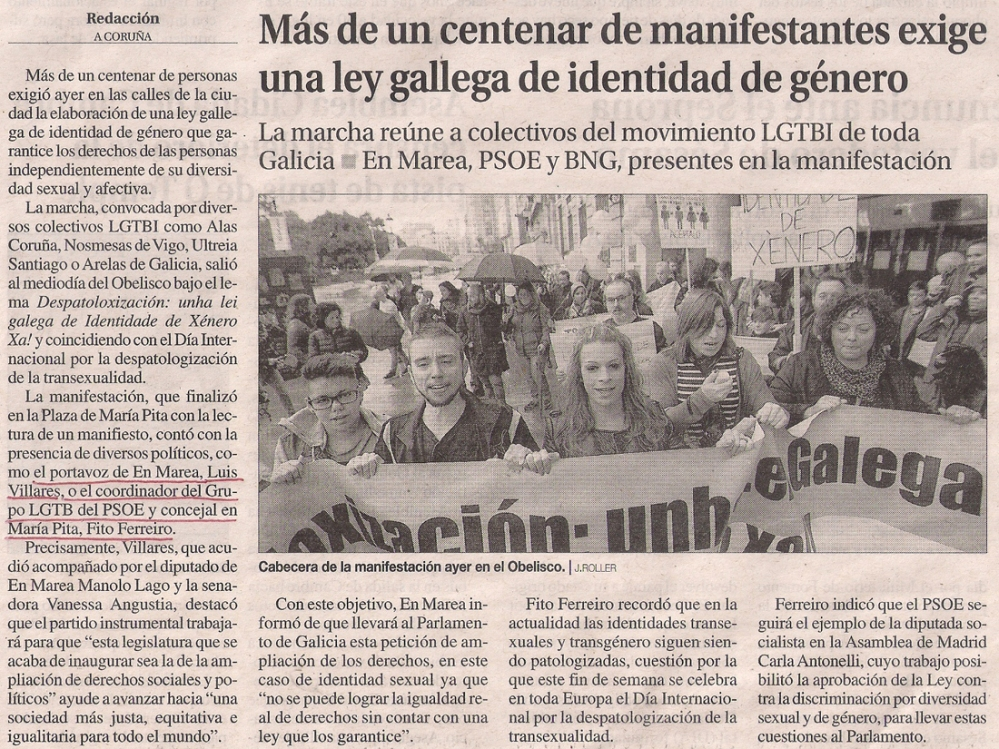 2016-10-24-la-opinion-manifestacion-despatologizacion-transexualidad-coruna