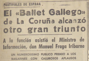 1962-08-04- El Ideal Gallego- Ballet Ballego Rey de Viana